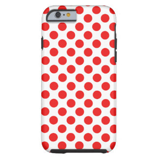 Red Polka Dots Tough iPhone 6 Case