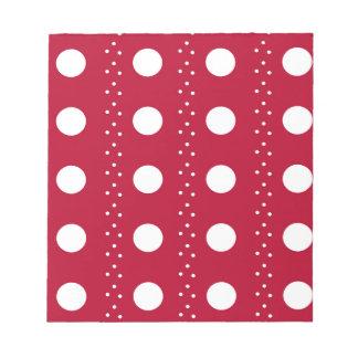 Red Polkadot Stripes Notepad