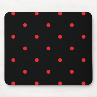 Red Polkadots Small Mouse Pad