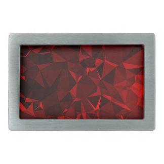 Red polygonal background belt buckles