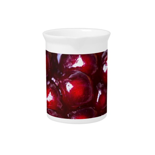 Red Pomegranate Seeds Pitcher