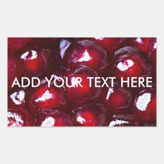 Red Pomegranate Seeds Sticker