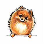 Red Pomeranian Paws Up Photo Sculpture Magnet