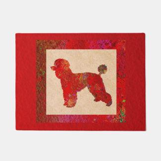 Red Poodle Doormat