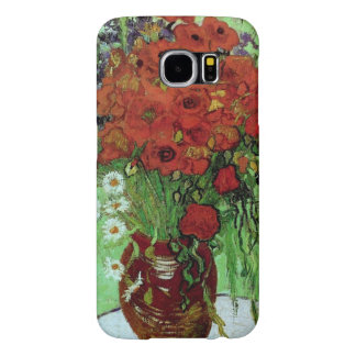 Red Poppies and Daisies, Vincent van Gogh Fine Art Samsung Galaxy S6 Cases