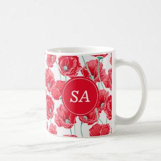 Red Poppies Back to School Dorm Essentials Coffee Mug