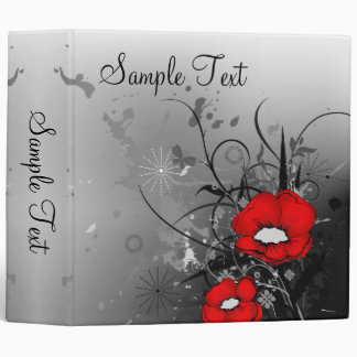Red Poppies Binder