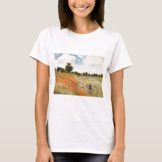 Red Poppies Blooming - Claude Monet T-Shirt