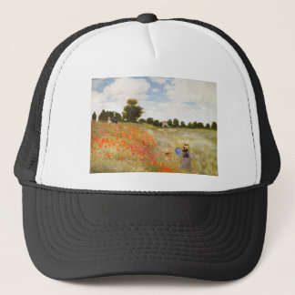 Red Poppies Blooming - Claude Monet Trucker Hat