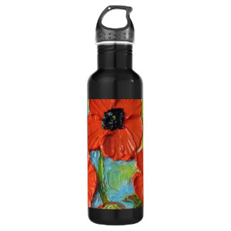 Red Poppies Bottle
