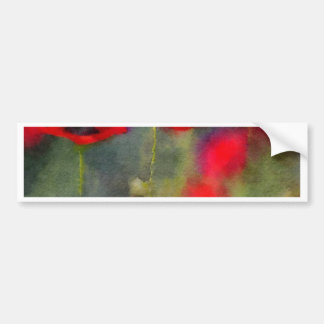 Red Poppies Bumper Sticker