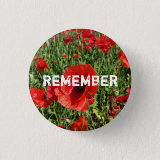 Red Poppies Button