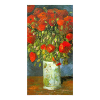 Red Poppies by Vincent van Gogh Customized Photo Card