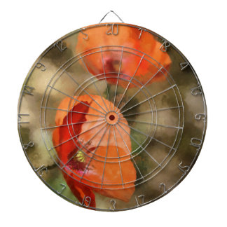 Red poppies dartboard