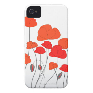 Red Poppies Electronics iPhone 4 Case