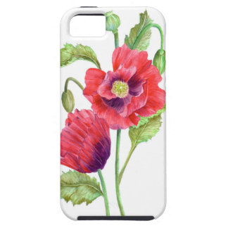 Red Poppies Floral Art iPhone 5 Case