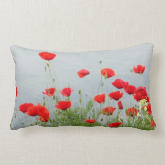 Red Poppies Girls Photos Cushion