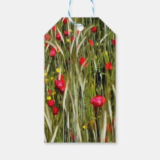 Red Poppies In A Cornfield Gift Tags
