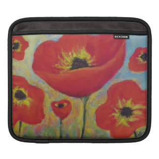 Red Poppies iPad Sleeve