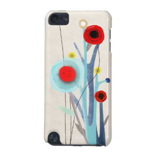 Red Poppies Japan Unique Handmade iPod Touch (5th Generation) Covers