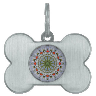 Red Poppies Nature, Flower-Mandala Pet Tag