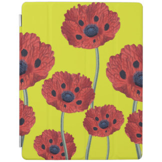 Red Poppies On Yellow iPad Cover
