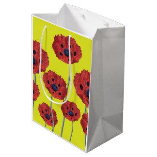 Red Poppies On Yellow Medium Gift Bag