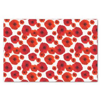 Red Poppies Pattern Tissue Paper
