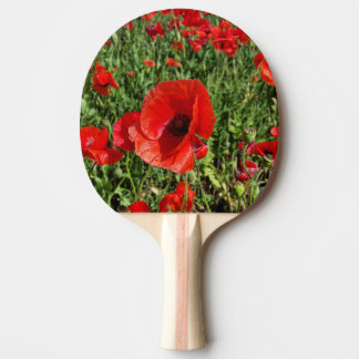 Red Poppies Ping Pong Paddle