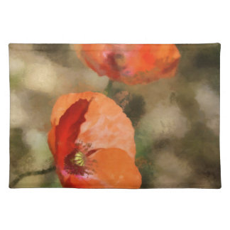 Red poppies placemat