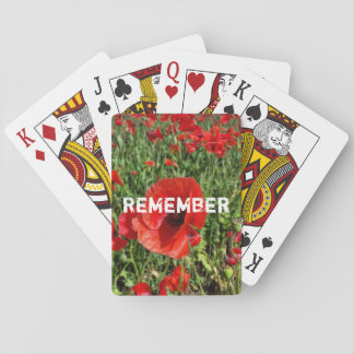 Red Poppies Playing Cards