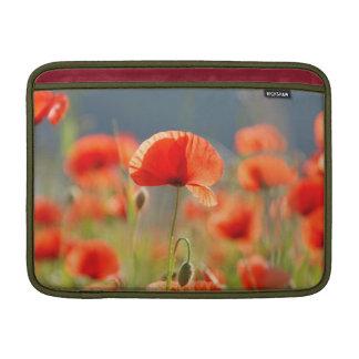 Red Poppies Poppy Flowers  Blue Sky MacBook Sleeve