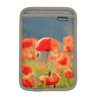 Red Poppies Poppy Flowers Blue Sky Sleeve For iPad Mini