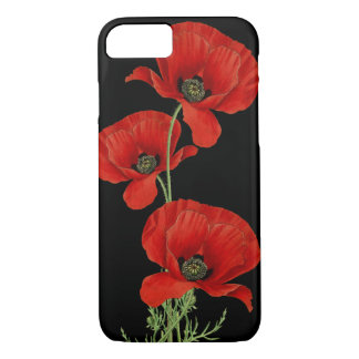 Red Poppies Vintage Botanical iPhone 8/7 Case