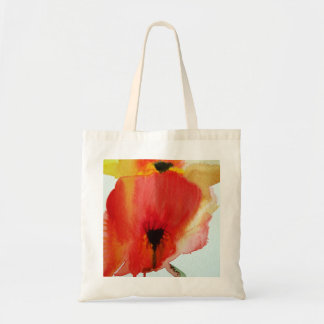 Red Poppies watercolour modern floral art Tote Bag