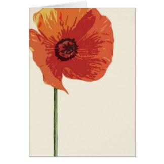 Red Poppy 2 Card