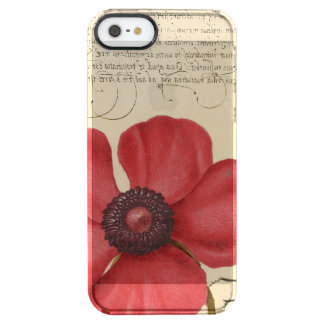 Red Poppy And The Bug Clear iPhone SE/5/5s Case