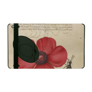 Red Poppy And The Bug iPad Case