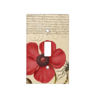 Red Poppy And The Bug Light Switch Cover