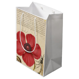 Red Poppy And The Bug Medium Gift Bag