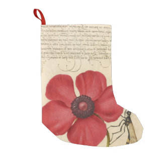 Red Poppy And The Bug Small Christmas Stocking