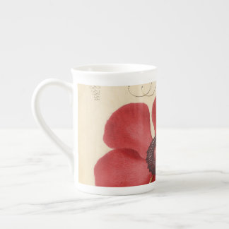 Red Poppy And The Bug Tea Cup