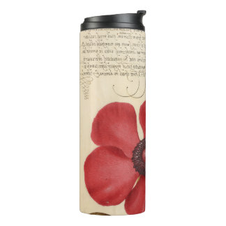 Red Poppy And The Bug Thermal Tumbler