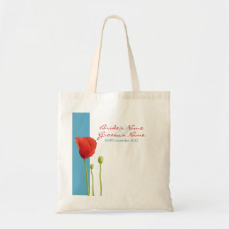 Red Poppy aqua Gift Bag