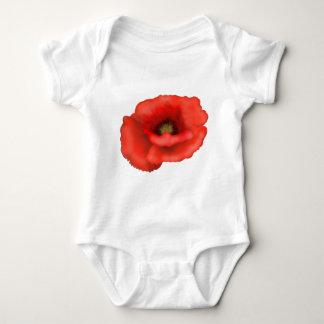Red Poppy Baby Bodysuit