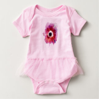 Red Poppy Baby Tutu Cutest Bodysuit #2