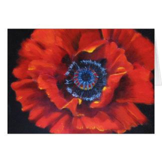 Red Poppy Blank Art Card