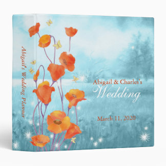 Red Poppy Botanical Wedding Planner Binder