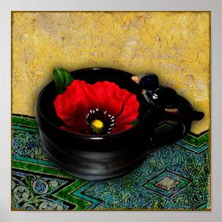 Red Poppy Cafe Print