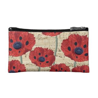 red poppy dream cosmetic bag